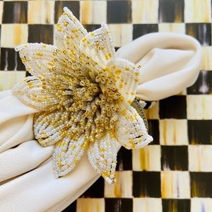 NWT MacKenzie-Childs napkin ring gold